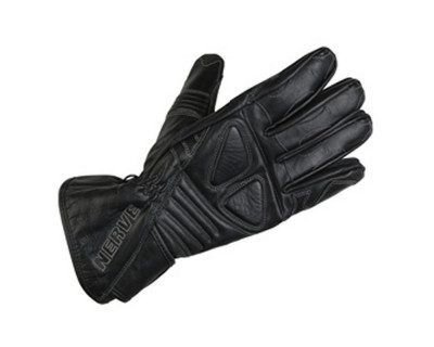 Handschuhe NERVE Dark Leather in der Farbe Schwarz XS
