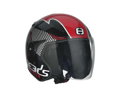 Helm SPEEDS Jet City Design schwarz/rot Design Größe XL