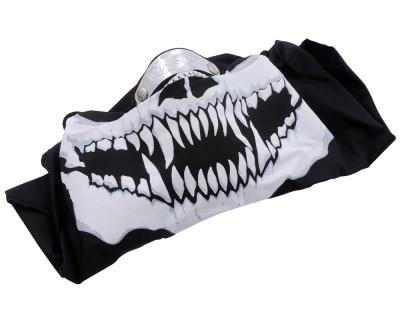 Maske Windmaske mit Sklettaufdruck aus Baumwolle und Nasenklemme aus Aluminium