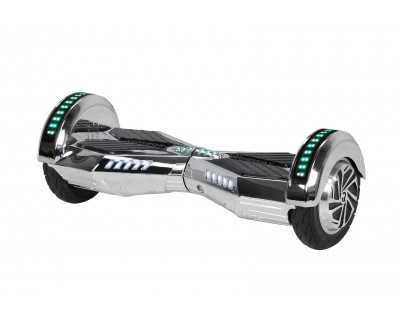 E-Balance Hoverboard - ROBWAY W2 CHROM EDITION, 8' Reifen, mit App-Funktion