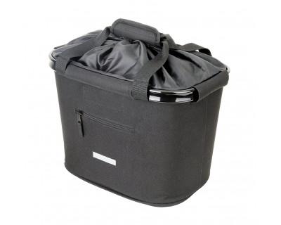 Lenkerkorbtasche, Korb vorne mit Regenschutz, Quick-Clip Universalhalterung