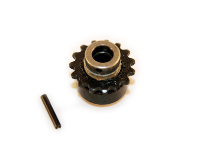 Motorritzel, klein mit Freilauf 15 Zähne