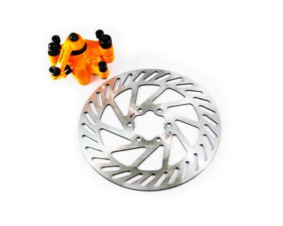 Bremsset: Bremsscheibe, Bremssattel orange, Bremsbeläge ARTEK M2