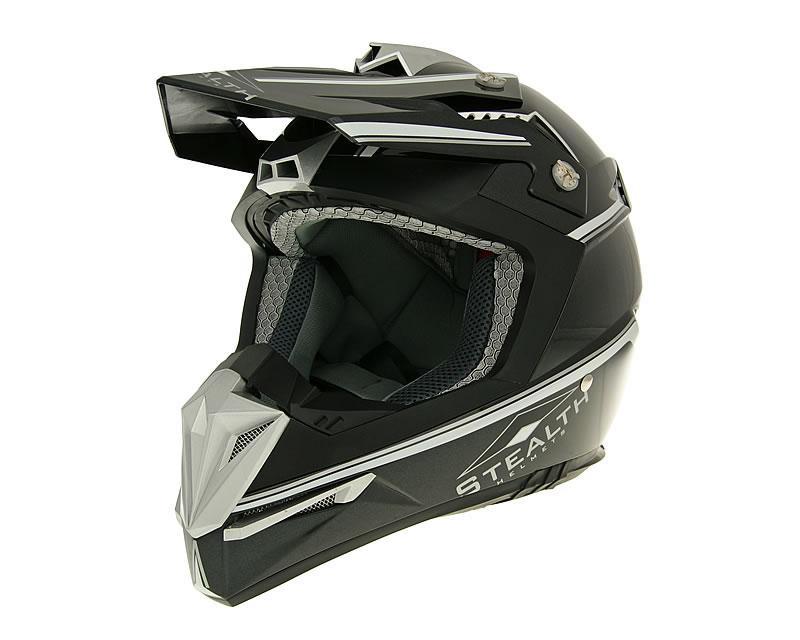 Motocrosshelm Vega Stealth schwarz