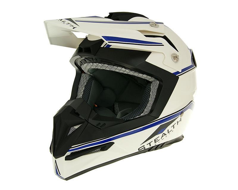 Motocrosshelm Vega Stealth weiß