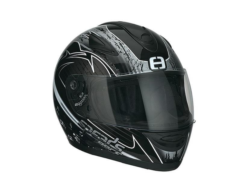 Helm SPEEDS Integral Race Graphic silber Größe XXL