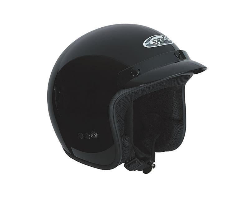 Helm SPEEDS Jet Classic schwarz glänzend Größe XXL