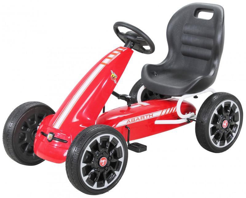Pedal Go Kart Abarth für Kinder, lizenziert-Red