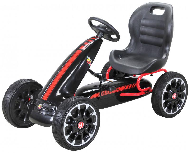 Pedal Go Kart Abarth für Kinder, lizenziert-Black