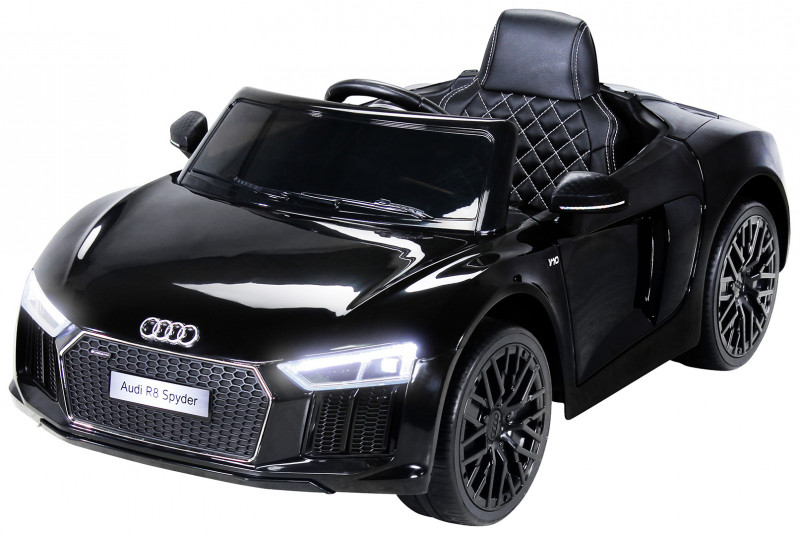 Audi R8 Spyder für Kinder, elektrisch, lizenziert (2018)-Black