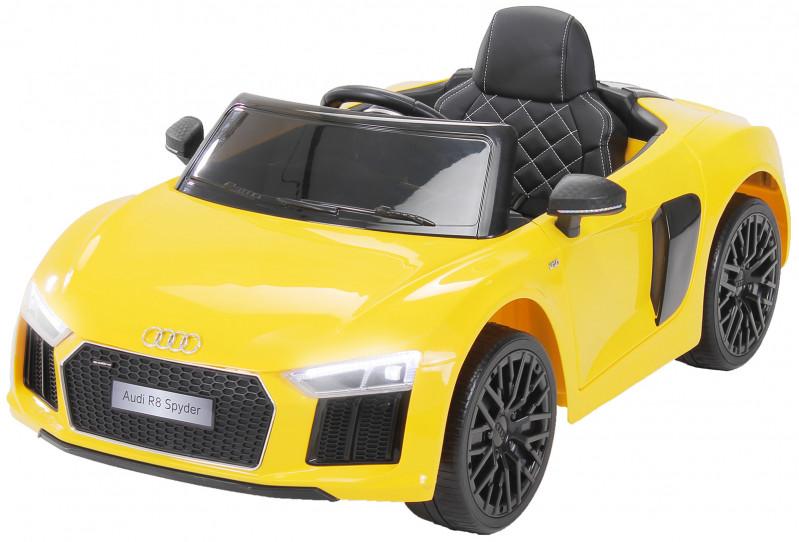 Audi R8 Spyder für Kinder, elektrisch, lizenziert (2018)-Yellow