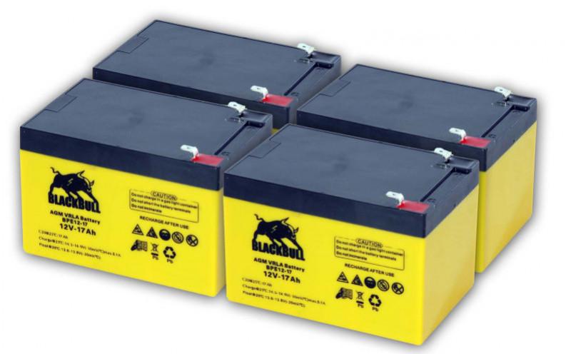 "Akku / Batterie blei AGM ""Range"" 48V 18AH  Revoluzzer"