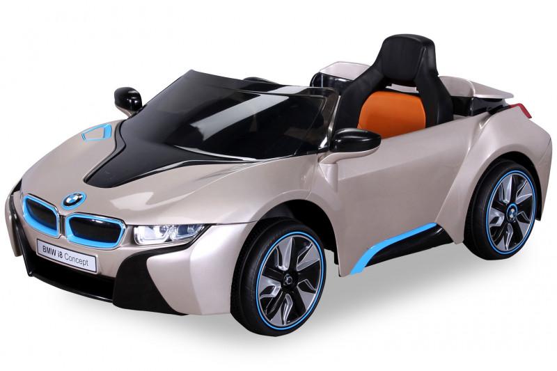 BMW i8 für Kinder, elektrisch, lizenziert, lackiert-Gold