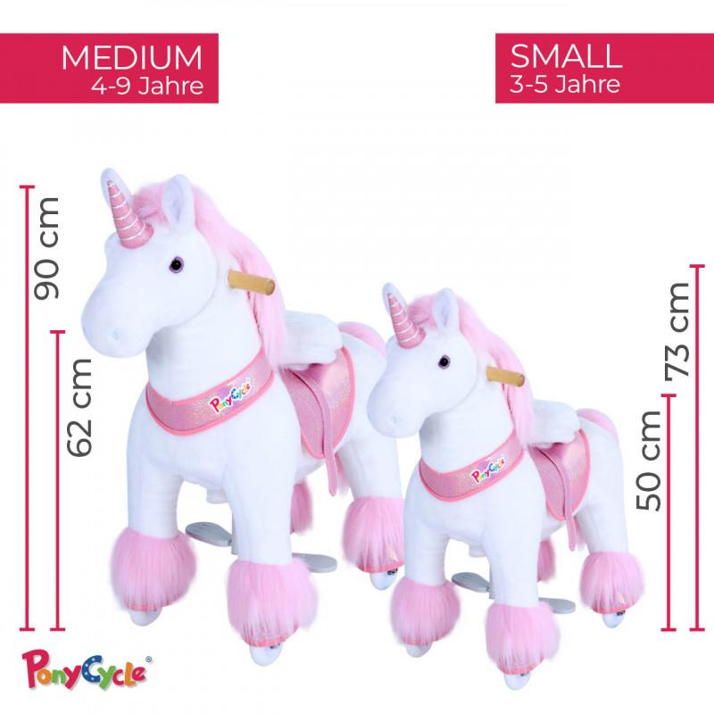 """Pony Pferd Einhorn """"Anna""""-rosa"""